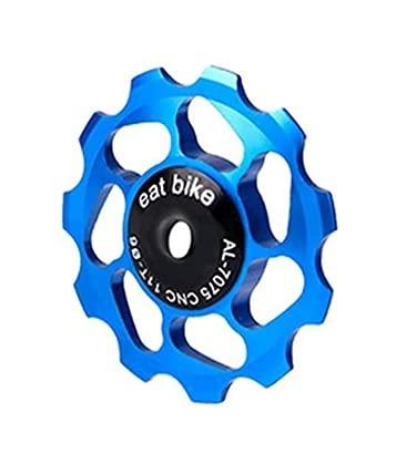 Road Bike Bakre Derailleur Remskiva, Cykel Jockey Hjulskivor Keramisk guide Roller Del för Mountain Bike Modifieringsdelar, Uppdaterad