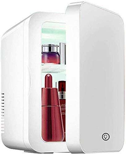 RENXR Refrigerador De Belleza Profesional para El Cuidado De La Piel De 8 litros con Luz LED Espejo para Maquillarse Cool & Heat para El Cuidado De La Piel De Los Alimentos del Dormitorio