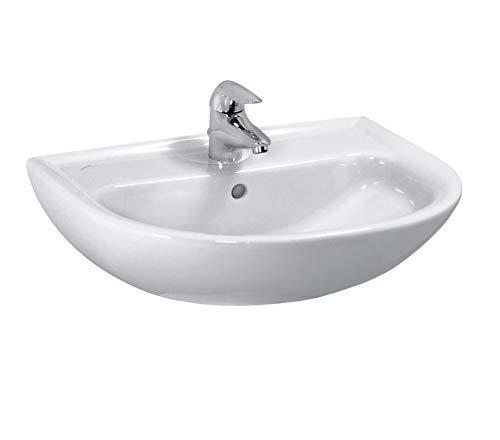 Laufen PRO B Waschtisch, 1 Hahnloch, ohne Überlauf, 650x500, weiß, Farbe: Weiß mit LCC