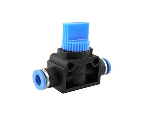 Preisvergleich Produktbild IQS Pneumatik 3 / 2-Wege-Ventile mit Steckanschluss Steckverbinder Absperrhahn (6 mm)