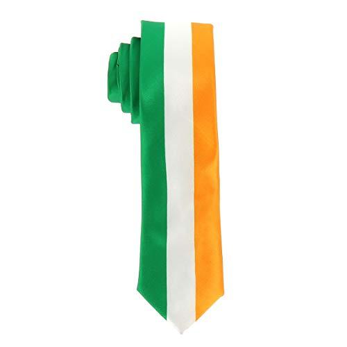 Corbata Bandera Irlandesa - Colores del Pas Irlanda - Corbata Bandera Tricolor Verde Blanca Naranja - Evento o Disfraz del Da de San Patricio