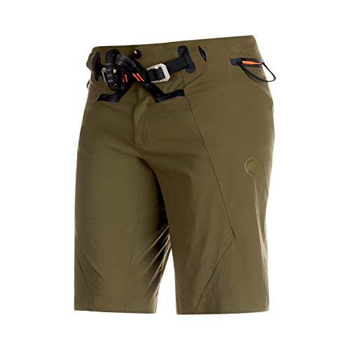 Mammut Realization 2.0 - Pantalones cortos con arnés de escalada integrado, Iguana,...