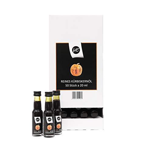 50 Stück | Spender Steirisches Gourmet Kürbiskernöl | Kernöl g.g.A. in der Dose | kein Glas | Premium Qualität | hochdosiert | mildes Nussaroma | 100% vegan und kaltgepresst (50 x 2 cl)