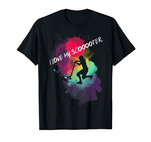 Stunt scooter niños patada scooter scooter rider skatepark Camiseta