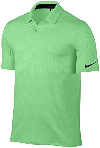 Polo de golf Nike Dry CNTRL Stripe OLC 2017, XL, LT Green Spark/Black
