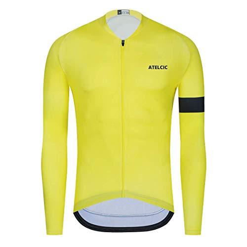 Atelcic Maillot de Ciclismo (Hiems Winter (Amarillo - Negro), XS)