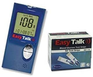 Easy Talk Meter Kit Combo ( Meter Kit and Easy Talk Test Strips 50ct)
