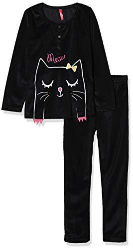 Lina Pink BF.kity.pyv Pijama, Negro (Noir Noir), 6 años (Talla del Fabricante: 06 Y) para Bebés