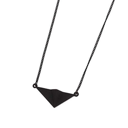 lonfenner Pullover Halskette,Design Extrem Kurze Tiermodell Diablo Joker Europäischen Und Amerikanischen Wind Metallring Pullover Kette Schwarz