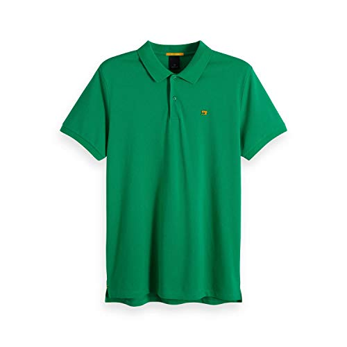 Scotch & Soda 149073 - Polo da uomo Classic Clean, colore: Rosso 2762 Fiesta Red Paradise Green S