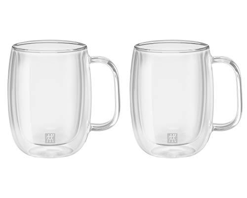 Zwilling ツヴィリング 「 ダブルウォール グラス コーヒーマグ 350ml 2pcs セット 」 耐熱 取っ手 二重構造 カップ お茶 【日本正規販売品】 39500-112