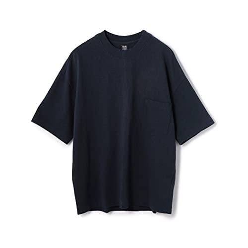 [ブルーワーク] 吊天竺 ビッグシルエット ポケットTシャツ メンズ 54118411001 XS 67 ダークブルー