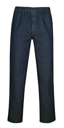 T-MODE Herren Jeans Stretch Schlupfhose Schlupfjeans ohne Cargo-Taschen-Dunkelblau-XL