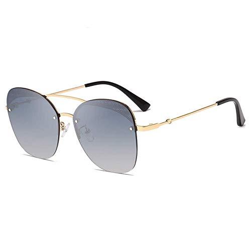 THJM Gafas De Sol Con Montura Metálica De Moda Gafas De Sol De Tendencia Unisex