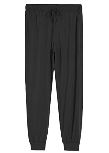 Latuza Men's Bamboo Viscose Jogger Pajama Pants Lounge Bottoms XL Black