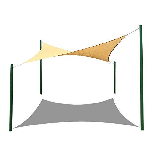 YS Paño de Sombra de Protección Solar Multiusos para Exteriores, Vela de Sombra Uv para Terraza Al Aire Libre, Terraza de Jardín, Vela de Sombra para Flor de Planta,6.1X4.8M Caqui