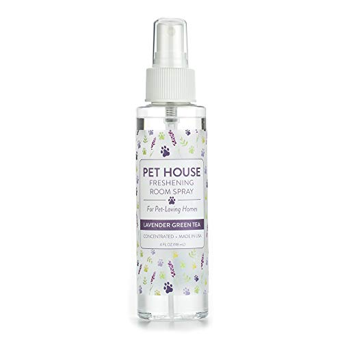 One Fur All Pet House Pet Friendly Freshening Room Spray in 6 Fragrances - Non Toxic - Concentrated Air Freshening Spray Neutralizes Pet Odor – Effective, Fast-Acting – 4 oz - (Lavender Green Tea)