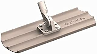 Bon 12-565 24-Inch by 8-Inch Round End Magnesium Concrete Bull Float with Universal Threaded Handle Bracket