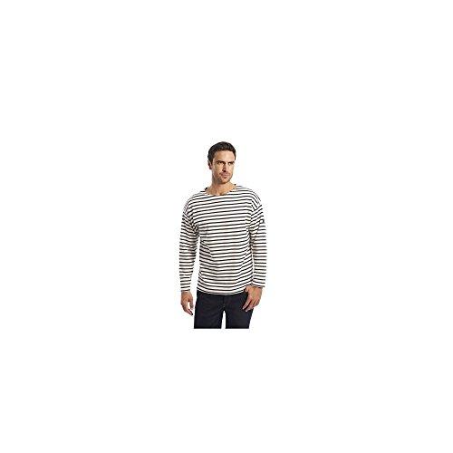 Armor Lux Herren Loctudy T-Shirt, Mehrfarbig (Nature/Navire 395), X-Small (Herstellergröße: 1)