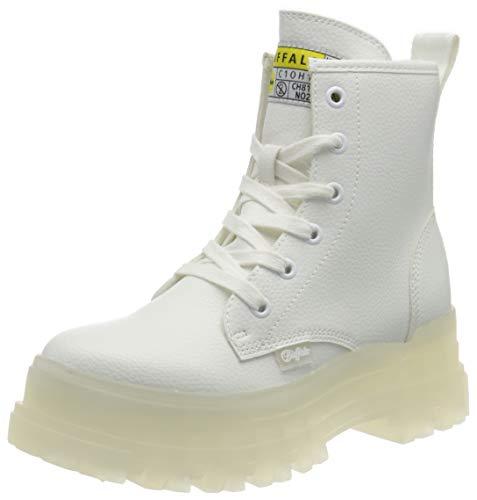 Buffalo Damen ASPHA RLD Mode-Stiefel, White, 41 EU