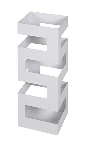Haku Möbel 26326 Portaombrelli Bianco, W: 16 x D: 16 x H: 48 cm