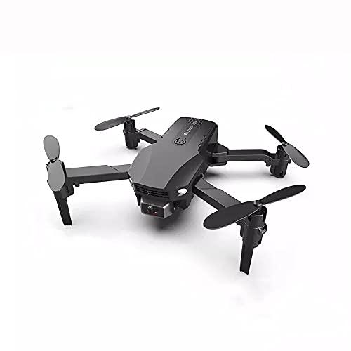 NONGLAN Pressione Mini Drone 4k Profesional Videocamera HD WiFi FPV Drone Air Altezza Fissa Elicottero Quattro Assi Rc con Fotocamera Dron(Color:Nero)