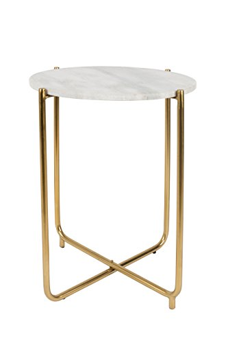 Felis Lifestyle Side Table Timpa Marble, marmor, weiß, 44.5 x 44.5 x 54 cm