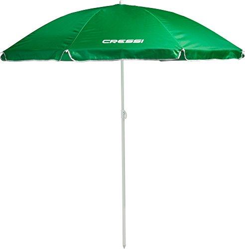 Cressi Ombrello da Spiaggia, Facile Trasporto e Montaggio, Verde, Taglia Unica