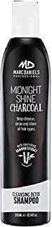 Charcoal Clarifying Shampoo - Sulfate Free – Vegan Friendly with Bamboo Extract Detoxifying for All Hair Types - Color Treated, Oily, Frizzy – for Women & Men by MARC DANIELS Professional