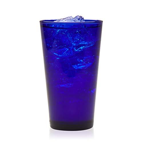 Libbey Cobalt Flare Tumbler Glasses, Set of 8