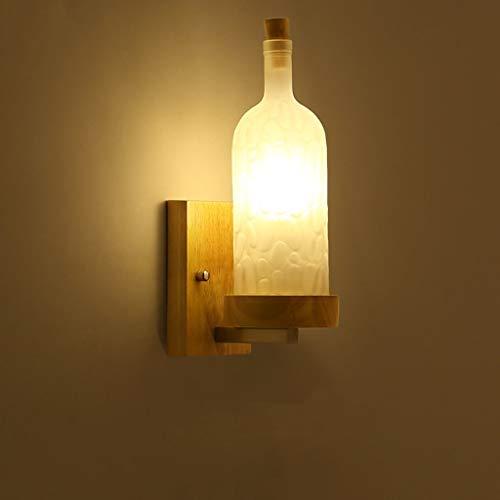 FEI Nordique Simple Lampe De Chevet Creative Personnalité en Bois Massif LED Salon Allée Balcon Lampe Chambre Mur Lampe