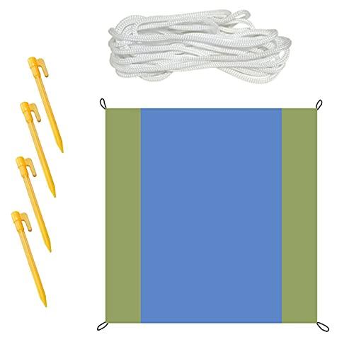 QKFON Parasol rectangular multiusos impermeable al aire libre con aislamiento térmico transpirable protector solar para patio al aire libre, jardín, camping, playa patio