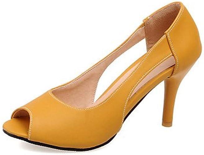 Zormey Chaussures Femmes Talon Peep Toe Talons Dress   Bleu   Jaune   D¨ contract¨  Jaune Rose6.5-7 Nous   Ue37   Uk4 5-5   Cn37