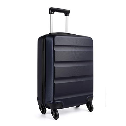 Kono Carry on Luggage Hard Shell ABS Cabin Suitcase 4 Wheeled Spinner 55cm 33L (Navy)