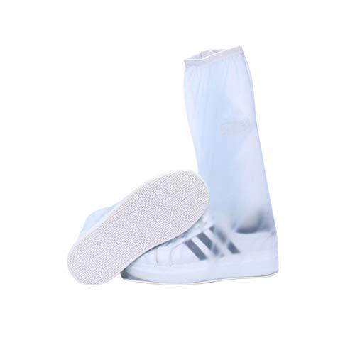 VORCOOL Lange Schuhüberzug Stiefel wasserdichte Regen Schuhüberzug Schutz Wiederverwendbare Stiefelüberzüge Überschuhe für Reisen Männer Frauen XXL