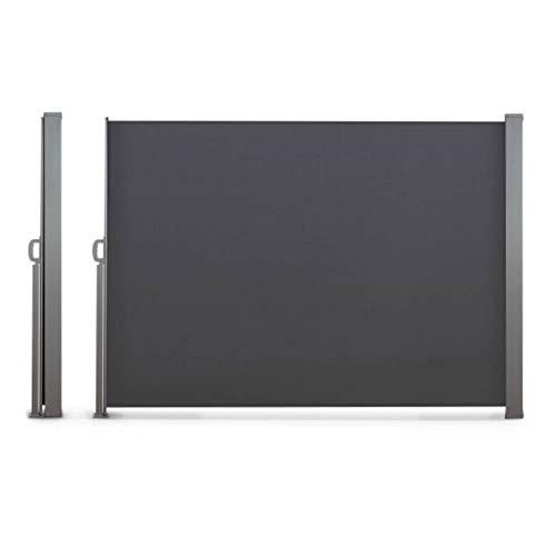 TERRE JARDIN Paravent extérieur rétractable - 2,5 x 1,6 m Anthracite