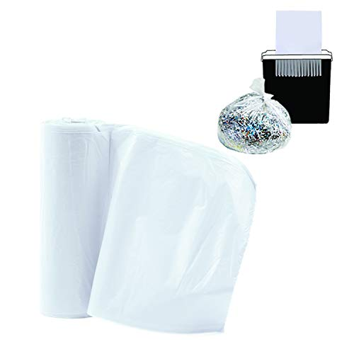 50 Paper Shredder Clear Bags - Perfect Size For Most Paper Shredders up to 15 Gallons