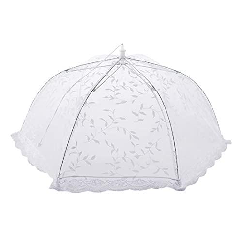 FEZBD 1 unid paraguas portátil estilo comida cubierta anti mosquito comida cubierta encaje mesa hogar uso comida cubierta alimentos cocina Gadgets herramientas