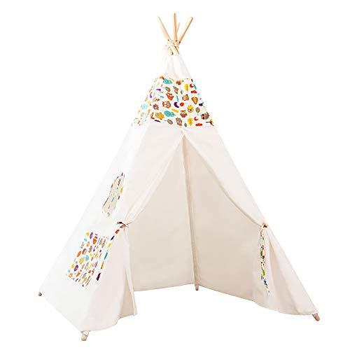 KLMP Tipi Infantil - Tippy Tienda Infantil - Tipi para Niños - Tipi Indio para Niños con Cubierta De Suelo Y Ventana - para Casa Y Jardín