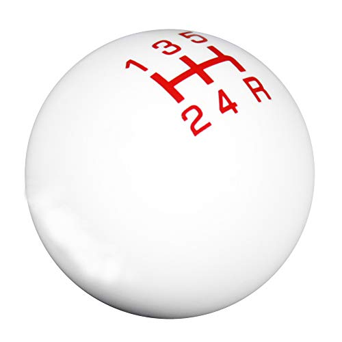 LT Sport 5-Speed Manual Transmission Stick Shift Knob White Ball Red MT Gear Lever Cover