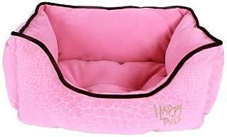 Happy Tails Designer Lizard Cuddler Bed 17-Inch by 20-Inch Pink [並行輸入品]