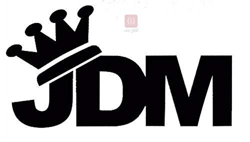 ISEE 360® JDM Crown Vinyl Window Decal Car Stickers Stylish Decals L x H :(14.00 cm X 7.70 cm)