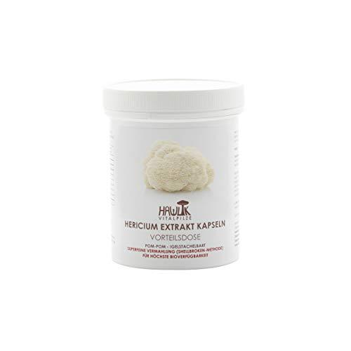 Hawlik Vitalpilze - Hericium Extrakt-Kapseln - 240 Kapseln - 30% Polysaccharide - 300mg Extrakt - 40 mg Acerola Extrakt