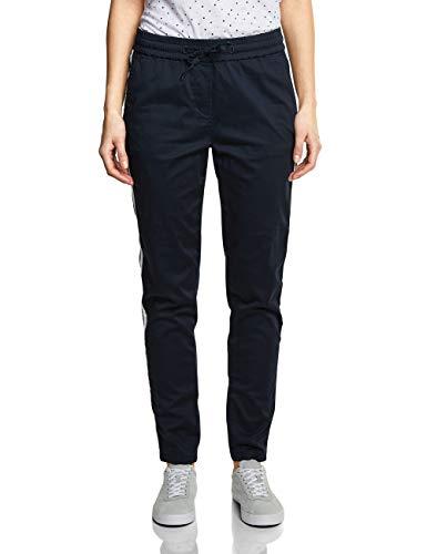 Cecil Damen Chelsea Loose Fit Hose Joggpants, Mehrfarbig (Deep Blue 10128), W26/L28(Herstellergröße:26)