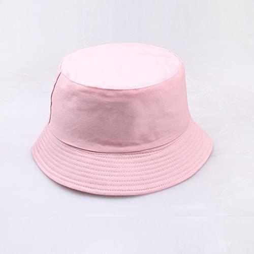Sombrero Gorra Sombrero de Cubo Reversible Sombreros de Verano para el Sol para Mujeres Hombres Gorro-Pink