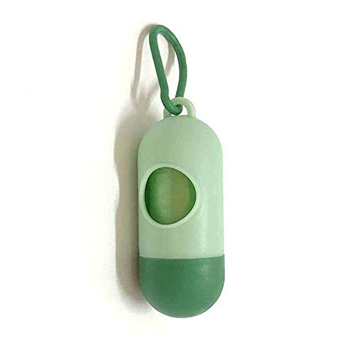 PENGHU Tragbare Kunststoff-Müllbeutel für Baby/Haustier, Einweg-Müllbeutel, abnehmbare Box, Windeltasche, Organizer für Hundebuggy (Farbe: grün)