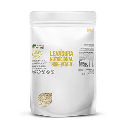 Energy Feelings   Levadura Nutricional en Copos con Vitamina B12  Vegana  Sin Gluten   1kg