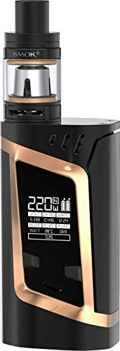 SMOK Alien 220W TC Kit Iniziale di Sigarette Elettronica (Nero/Oro) SMOK RHA 220 Kit