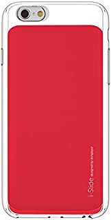 "Apple iPhone 6s Plus / 6 Plus 5.5"" i-Slide Ultra Slim Card Case 2 Card Slots Pockets Wallet Case by Skinplayer (Clear / Red)"