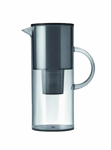 Stelton Wasserkanne mit Deckel, Kunststoff, Grau, 1310-10
